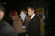 Simon Lipkin ( Trekkie Monster) and John robbins ( Rod)  Opening night of Cameron Mackintosh's new production 'Avenue Q' after-party at Mint Leaf. Suffolk Pl. London. 28 June 2006. ONE TIME USE ONLY - DO NOT ARCHIVE  © Copyright Photograph by Dafydd Jones 66 Stockwell Park Rd. London SW9 0DA Tel 020 7733 0108 www.dafjones.com