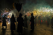 Correfoq (Fire Run) - the  finale of the Festival of La Mercè, Barrio Gotico of Barcelona