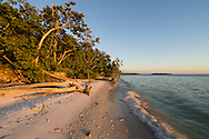 Perfectly clear skies made for boring sunsets and sunrises at Picnic Key But the light was nice as the sun neared the horizon. The 2 islands in the distance are the Stop Keys.<br /> <br /> Date Taken: 12/13/2014