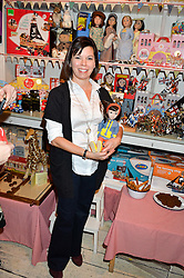 FRANCES CAIN founder of the doll 'A Girl For All Time' at a promotional party for the A Girl For All Time doll held at HoneyJam, 2 Blenheim Crescent, London on 5th December 2015.
