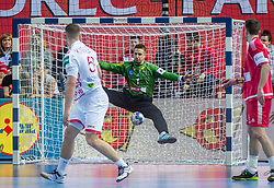 Thomas Bauer of Austria during handball match between National teams of Belarus and Austria on Day 1 in Preliminary Round of Men's EHF EURO 2018, on January 12, 2018 in Arena Zatika, Porec, Croatia. Photo by Ziga Zupan / Sportida