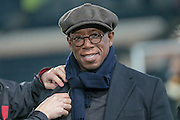 Ian Wright gets ready for the camera before the The FA Cup fifth round match between Hull City and Arsenal at the KC Stadium, Kingston upon Hull, England on 8 March 2016. Photo by Mark P Doherty.