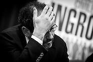 Matera (MT) 04.02.2013 - Campagna Elettorale Elezioni Politiche 2013. L'ex Pm Antonio Ingroia leader di Rivoluzione Civile, a Matera per la campagna elettorale. Nella Foto: Antonio Ingroia. Foto Giovanni Marino