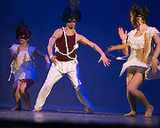 Dancers from Garth Fagan's dance company perform at the Roc Awards at the Kodak Theater on Sunday, February 15, 2015.
