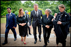 Image ©Licensed to i-Images Picture Agency. 08/07/2014. London, United Kingdom. President Bakir Izetbegovic  meets Hatidza Mehmedovic (2nd right) a mother of Srebrenica at the Srebrenica Memorial Reception at Lancaster House. Picture by Andrew Parsons / i-Images