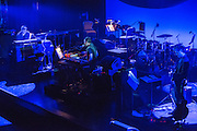 """Planetarium, a series of songs composed by Bryce Dessner, Sufjian Stevens, and Nico Muhly at the Brooklyn Academy of Music (BAM). rom left to right Nico Muhly, Sufjian Stevens, and Bryce Dessner performing """"Over the Rainbow"""" for an encore."""