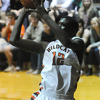 New Hanover's Ramello Williams shoots against Ashley Friday December 19, 2014 at New Hanover High School in Wilmington, N.C. (Jason A. Frizzelle)