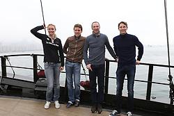 Riders Boat trip Hong Kong harbour<br /> Ann Sophie Godart, Simon Delestre, Patrice Delaveau, Kevin Staut<br /> CSI 5* Longines Hong Kong Masters 2013<br /> © Hippo Foto - Counet Julien