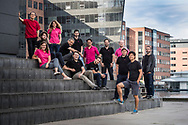 Company Group Portraits (firmaportrætter) of Swiss Fundraising Team RaiseNow, photographed in Copenhagen, Denmark<br />