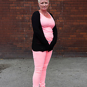 Woman in pink and black photographed at Factory Street in Bradford.