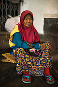 Streetportrait of woman  in Bandung, Java, Indonesia