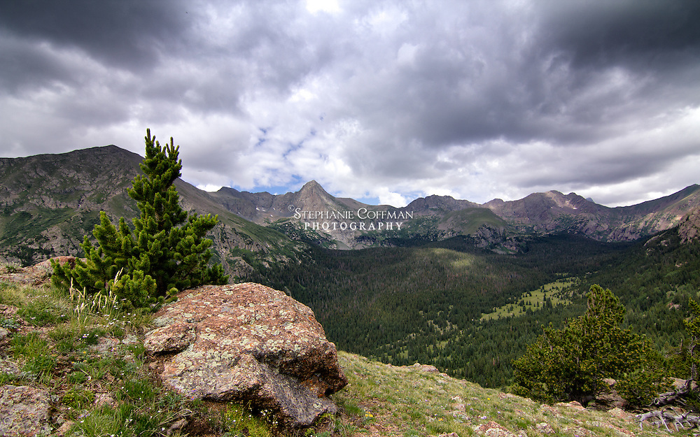 Views from the Music Pass Trail looking west toward Tijeras Peak in the Sangre de Cristo Mountains