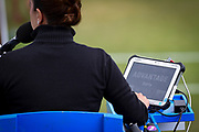 Umpires scoreboard touch pad stating Advantage Barty during the Aegon Classic Birmingham at Edgbaston Priory Club, Edgbaston, United Kingdom on 24 June 2017. Photo by Martin Cole.
