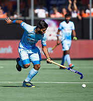 BREDA -  Manpreet Singh (Ind.) . Australia-India (1-1), finale Rabobank Champions Trophy 2018. Australia wint shoot outs.  COPYRIGHT  KOEN SUYK