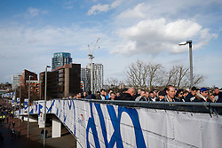 Tottenham Hotspur fans arrive at Wembley - Photo mandatory by-line: Rogan Thomson/JMP - 07966 386802 - 01/03/2015 - SPORT - FOOTBALL - London, England - Wembley Stadium - Chelsea v Tottenham Hotspur - Capital One Cup Final.