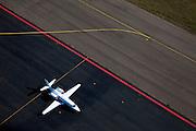 Nederland, Limburg, Beek, 07-03-2010; Maastricht Aachen Airport (Luchthaven Zuid-Limburg Airport), zakenvliegtuig van het type Cessna 560XL geparkeerd op de luchthaven..Corporate jet (business jet) parked on the airfield.luchtfoto (toeslag), aerial photo (additional fee required);.foto/photo Siebe Swart