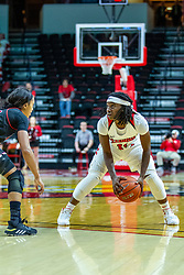 NORMAL, IL - November 20: Tete Maggett during a college women's basketball game between the ISU Redbirds and the Huskies of Northern Illinois November 20 2019 at Redbird Arena in Normal, IL. (Photo by Alan Look)