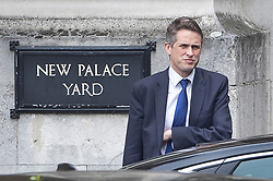 © Licensed to London News Pictures. 01/05/2019. London, UK. Defence Secretary Gavin Williamson walks from  Parliament after attending Prime Minister's Questions. Photo credit: Peter Macdiarmid/LNP