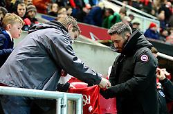 Bristol City head coach Lee Johnson signs autographs before the game - Mandatory by-line: Dougie Allward/JMP - 22/02/2017 - FOOTBALL - Ashton Gate - Bristol, England - Bristol City v Fulham - Sky Bet Championship