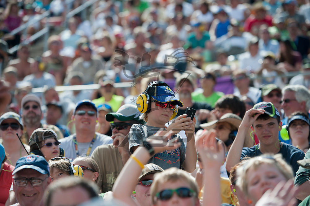 Brooklyn, MI - JUN 17, 2012:   Fans during the Quicken Loans 400 race at Michigan International Speedway in Brooklyn, MI.