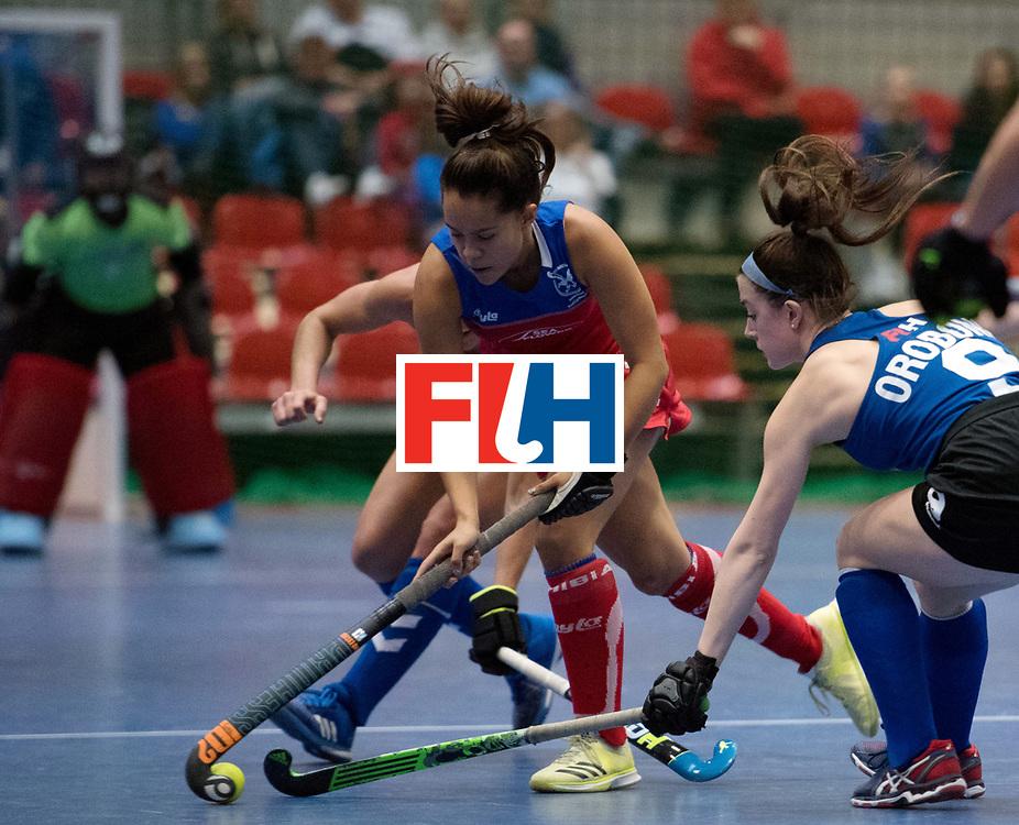 BERLIN - Indoor Hockey World Cup<br /> United States - Namibia<br /> foto: Gillian Hermanus <br /> WORLDSPORTPICS COPYRIGHT FRANK UIJLENBROEK