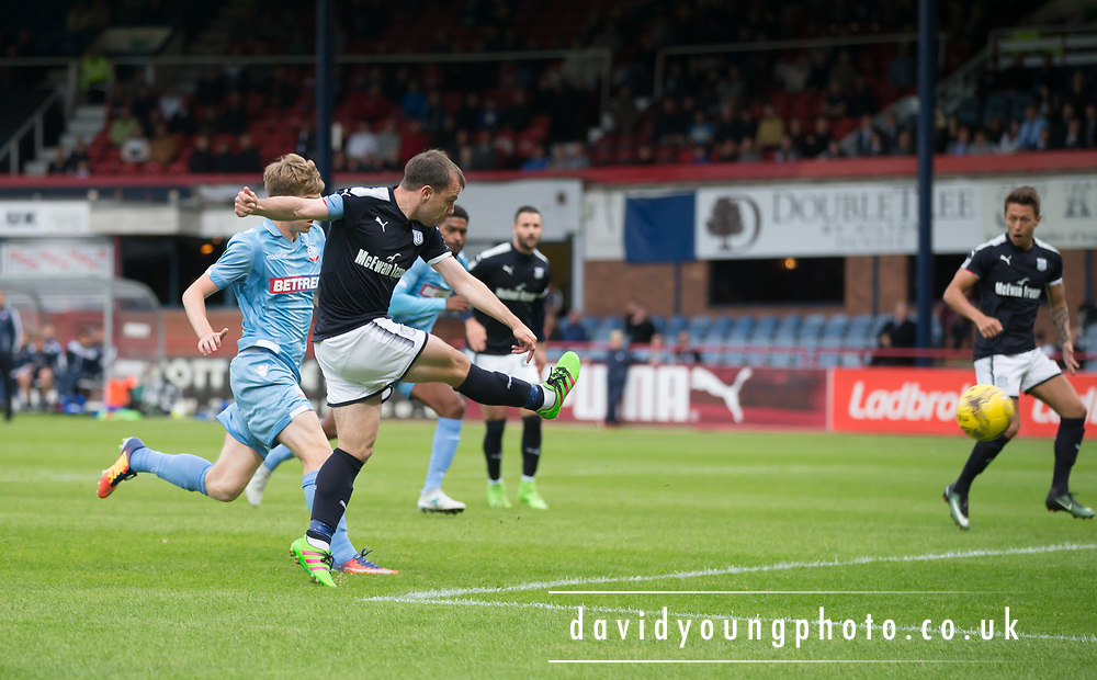 Dundee's Paul McGowan scores - Dundee v Bolton Wanderers pre-seson friendly at Dens Park, Dundee, Photo: David Young<br /> <br />  - © David Young - www.davidyoungphoto.co.uk - email: davidyoungphoto@gmail.com