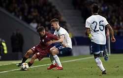 March 22, 2019 - Madrid, Madrid, Spain - Venezuela's Romulo Otero and Argentina's Juan Foyth are seen in action during the International Friendly match between Argentina and Venezuela at the wanda metropolitano stadium in Madrid. (Credit Image: © Manu Reino/SOPA Images via ZUMA Wire)