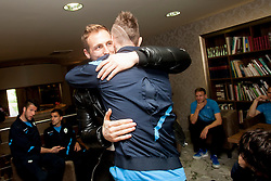 Jan Oblak at the reception of Slovenian footballers before going on friendly match in Algeria, on 3rd March 2014, in Brdo pri Kranju, Slovenia. Photo by Urban Urbanc / Sportida.com