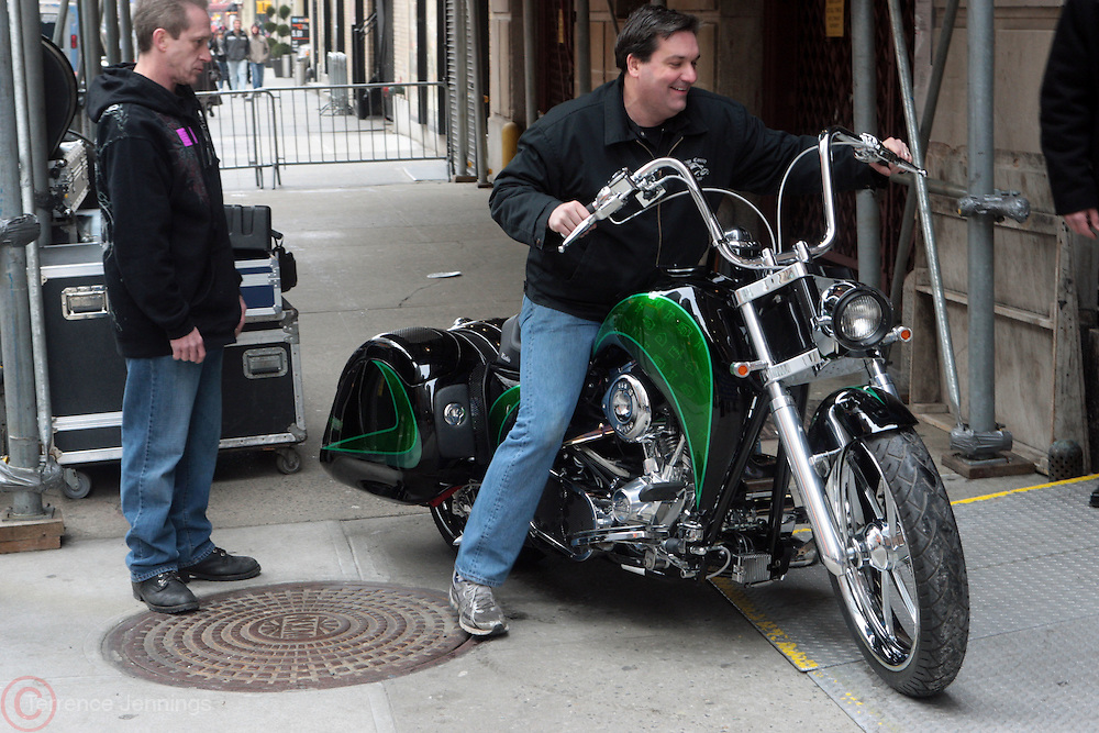 11 January 2010- New York, NY- Orange County Chopper Designed Hybird Motorcyle at The David Letterman Show held at The Ed Sullivan Theater on January 11, 2010 in New York City.