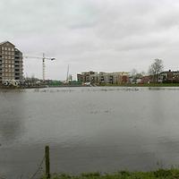 070119,hardenberg,nederland..Hoogwater bij skyline van Hardenberg...fotografiefrankuijlenbroek©2007 michiel van de velde
