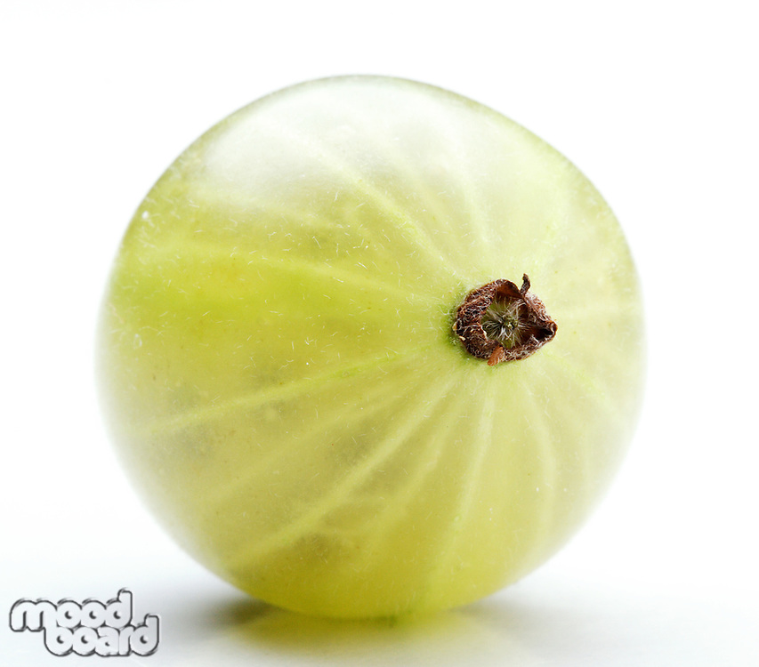 Close - up of gooseberry on white background