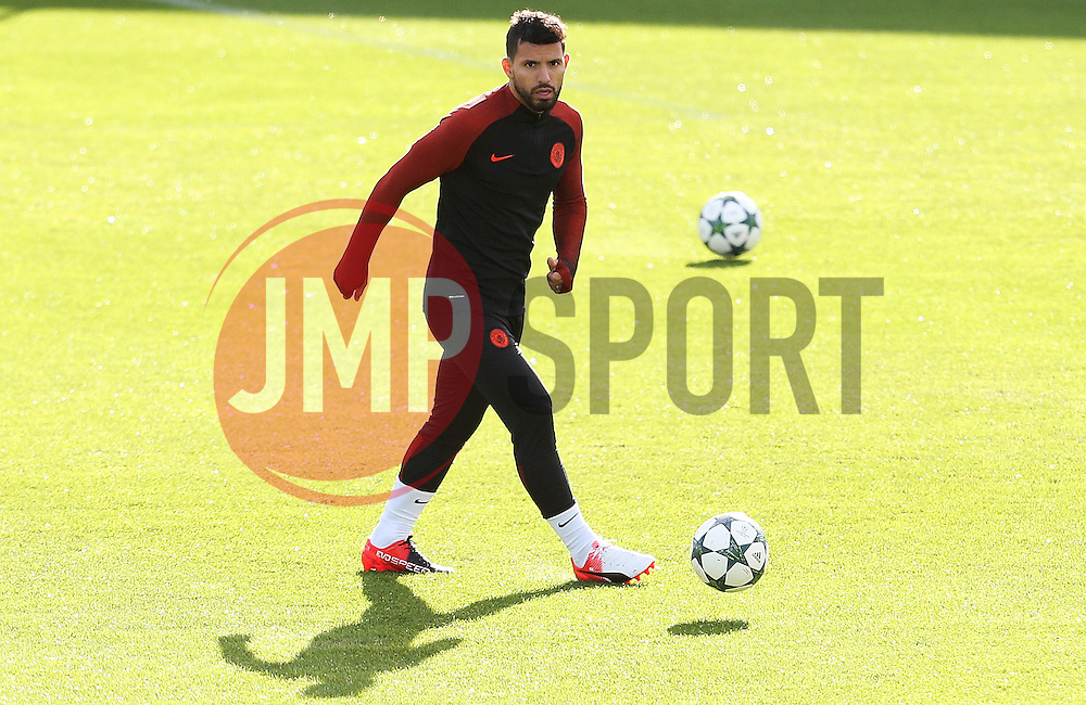 Sergio Aguero of Manchester City - Mandatory by-line: Matt McNulty/JMP - 18/10/2016 - FOOTBALL - Manchester City - Training session ahead of Champions League qualifier against FC Barcelona