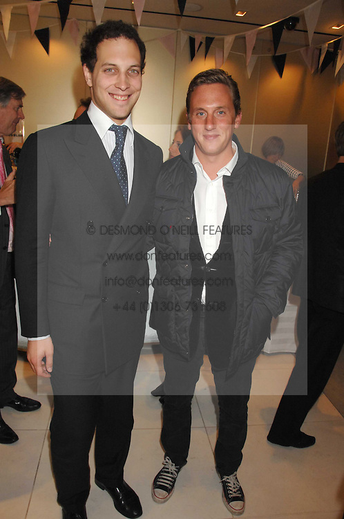 Left to right, LORD FREDERICK WINDSOR and MR HARRY BECHER at a party to launch jeweller Boodles new store at 178 New Bond Street, London W1 on 26th September 2007.<br />