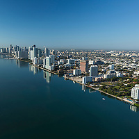 Aerial of downtown Miami featuring the Edgwater district north.