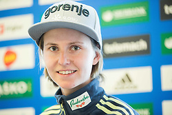 Katja Pozun during press conference of Slovenian Ski jumping Women team before new season 2015/16, on December 1, 2015 in Cristal palace, BTC, Ljubljana, Slovenia. Photo by Vid Ponikvar / Sportida