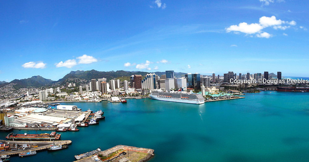 Aloha Tower, Downtown Honolulu, Oahu, Hawaii