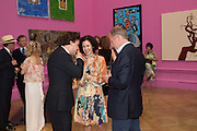 ADAM WAYMOUTH; MOLLIE DENT-BROCKLEHURST; RICHARD HUDSON, Royal Academy Summer exhibition private view. Piccadilly. London. 3 June 2015