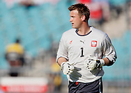 CHORZOW 01/06/2008.POLAND v DENMARK.INTERNATIONAL FRIENDLY.ARTUR BORUC OF POLAND ..FOT. PIOTR HAWALEJ / WROFOTO