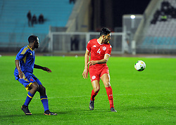 March 22, 2019 - Rades, Tunisia - Yessine Meriah(4) of Tunisia during the Match Tunisia vs Eswatini at the Rades Olympic stadium in the last qualifying round of the 2019 African Nations Cup finals vs. Tun vs Eswatini 4/0. (Credit Image: © Chokri Mahjoub/ZUMA Wire)