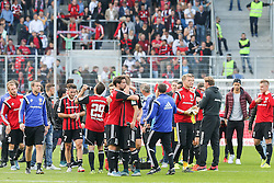 03.10.2015, Audi Sportpark, Ingolstadt, GER, 1. FBL, FC Ingolstadt 04 vs Eintracht Frankfurt, 8. Runde, im Bild Freude und Umarmungen bei den erstmals in der 1. Bundesliga in einem Heimspiel erfolgreichen Ingolstaedter // during the German Bundesliga 8th round match between FC Ingolstadt 04 and Eintracht Frankfurt at the Audi Sportpark in Ingolstadt, Germany on 2015/10/03. EXPA Pictures © 2015, PhotoCredit: EXPA/ Eibner-Pressefoto/ Strisch<br /> <br /> *****ATTENTION - OUT of GER*****