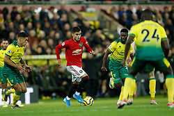 Andreas Pereira of Manchester United- Mandatory by-line: Phil Chaplin/JMP - 27/10/2019 - FOOTBALL - Carrow Road - Norwich, England - Norwich City v Manchester United - Premier League