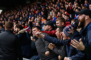Rangers fans pile onto the pitch following their late winner during the Ladbrokes Scottish Premiership match between St Mirren and Rangers at the Simple Digital Arena, Paisley, Scotland on 3 November 2018.