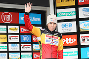 NETHERLANDS / NEDERLAND / PAYS BAS / GIETEN / CYCLING / WIELRENNEN / CYCLISME / CYCLOCROSS / VELDRIJDEN /  HANSGROHE SUPERPRESTIGE VELDRIJDEN / WOMEN / PODIUM / CELEBRATION / HULDIGING / SANNE CANT (2ND) /