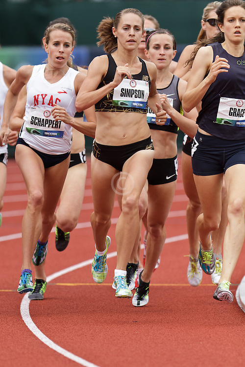 Olympic Trials Eugene 2012: women's 1500 meters, Jenny SImpson