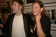 CHRISTOPHER BAILEY AND EMMA REEVES, Opening of Photo-London, Burlington Gdns. London. 17 May 2006. ONE TIME USE ONLY - DO NOT ARCHIVE  © Copyright Photograph by Dafydd Jones 66 Stockwell Park Rd. London SW9 0DA Tel 020 7733 0108 www.dafjones.com