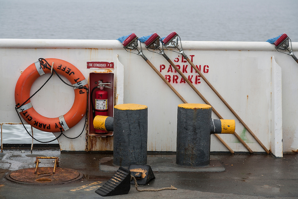 Mops and deck equipment on Port Jefferson to Bridgeport ferry