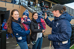 Bristol Bears Women head coach Kim Oliver greets some young mascots - Mandatory by-line: Paul Knight 12/2019 - RUGBY - Shaftesbury Park - Bristol, England - Bristol Bears Women v Gloucester-Hartpury Women - Tyrrells Premier 15s