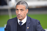 Brighton and Hove Albion manager Chris Hughton during the Sky Bet Championship match between Reading and Brighton and Hove Albion at the Madejski Stadium, Reading, England on 31 October 2015. Photo by Mark Davies.
