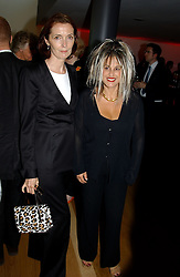 Left to right, Fashion designers CATHERINE WALKER and  ELIZABETH EMANUEL at a party to celebrate the UK launch of Diana:The Portrait, the authorised book about the late Princess Of Wales's life and work, held at the National Portrait Gallery, London on 1st September 2004.  The book was commissioned by The Diana, Princess of Wales Memorial Fund and writen by Ros Coward.