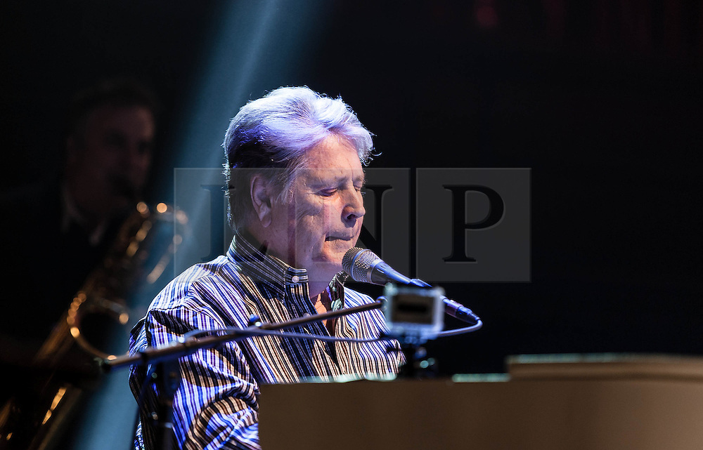 © Licensed to London News Pictures. 27/09/2012. London, UK. Brian Wilson (Left) of The Beach Boys perform live at The Royal Albert Hall, London, as part of their 50th Anniversary Tour.  It is reported that this is the final tour that Love, Wilson and Jardine will play together as The Beach Boys - with Love planning on continuing the band with different band members. Photo credit : Richard Isaac/LNP